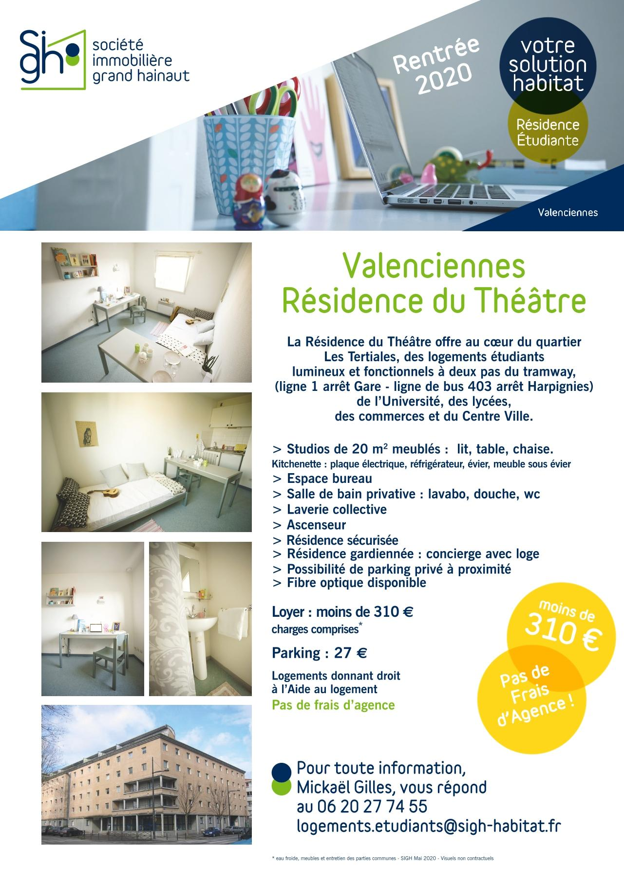 Flyer a5 residence etudiante sigh le theatre valenciennes mai 2020 to web 1 1