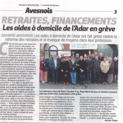 Greve courrier de fourmies 13 12 2019 1